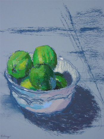 Limes in a White Bowl